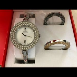 Authentic Coach signature gallery bangle watch